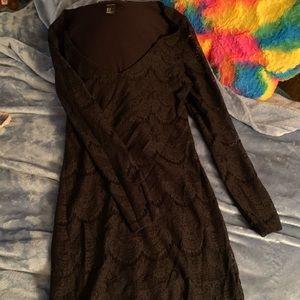 Forever 21 Black Lace Long Sleeve Mini Dress🖤